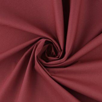 Tissu coton percale rouge Selena grande largeur