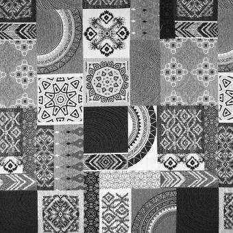 Tissu jacquard Beky noir et blanc