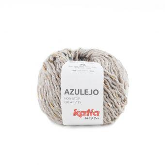 Pelote de fil à tricoter Katia Azulejo gris clair