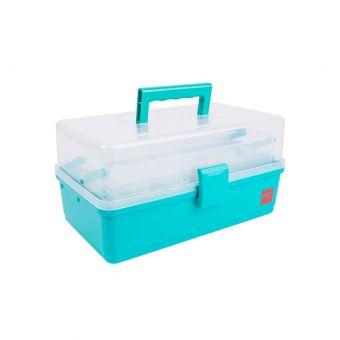 Boite en plastique grand modèle bleu