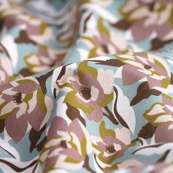 Tissu coton bio fleurs