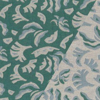 Tissu jacquard épais Walkie Talkie motif exotic wave