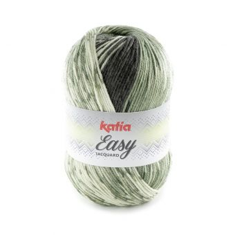 Fil à tricoter Katia Easy jacquard vert clair