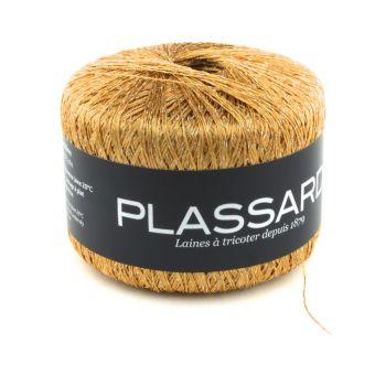 Pelote de fil à tricoter Plassard Sideral doré