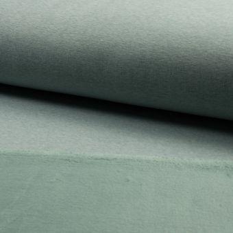Tissu molleton sweat ploaire alpfleece uni vert d'eau