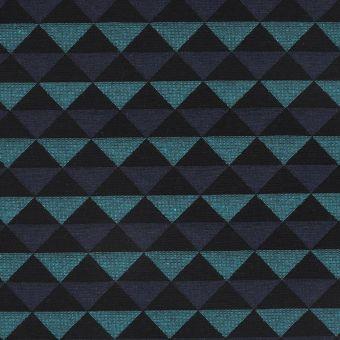 Tissu jacquard triangle Selena bleu