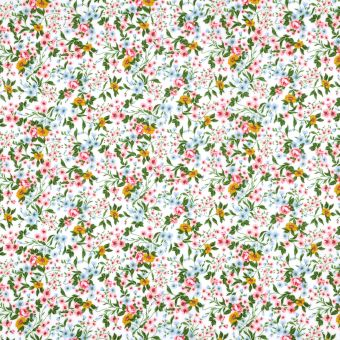 Tissu coton enduit petites fleurs