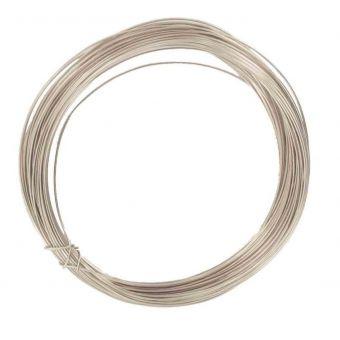 Fil en métal bijoux à crocheter diamètre 0,4 mm x 10m argenté