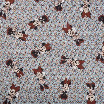 Tissu coton Minnie multicolore