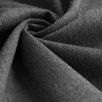 Tissu sergé Avoriaz lainage gris moyen