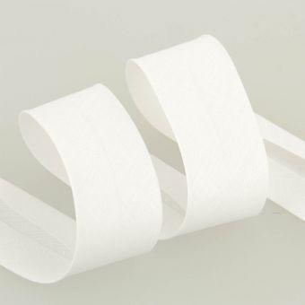 Biais replié 20 mm blanc