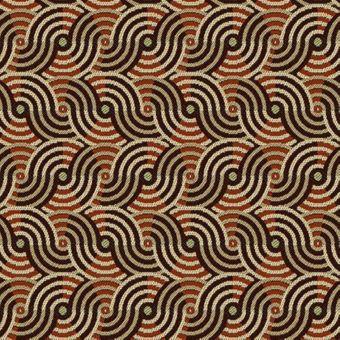 Jacquard polyester imprimé torsade graphique rouille