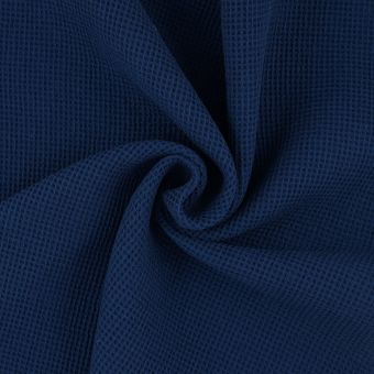 Tissu nid d'abeille Mistral bleu marine