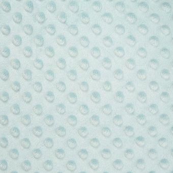 Tissu polaire minky bleu glacier