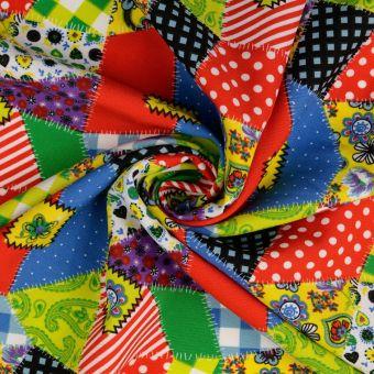 Tissu burlington patch multicolore