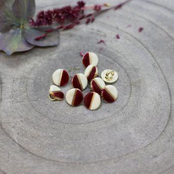 Bouton wink off white amarante 9 mm - Atelier Brunette