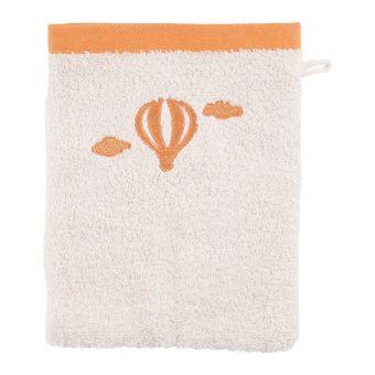 Gant de toilette montgolfière orange