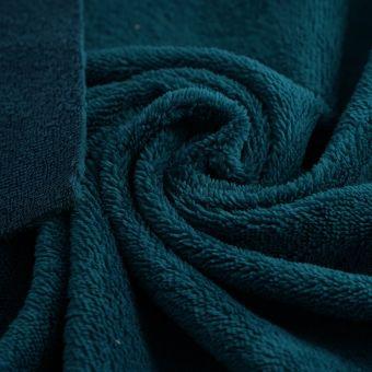 Tissu éponge bambou douce bleu paon