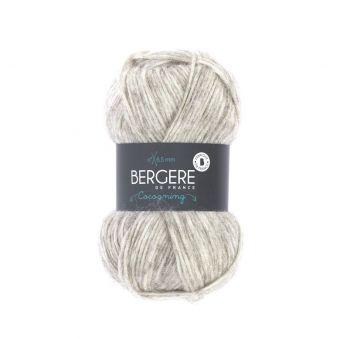 Pelote de fil à tricoter Cocooning Bergère de France écru