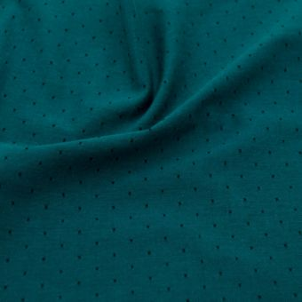 Tissu chambray bio pois vert