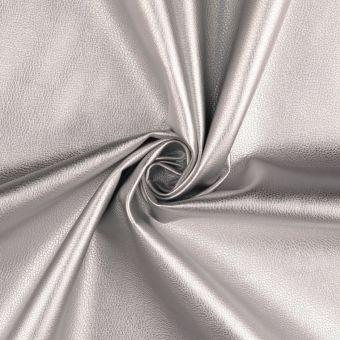 Tissu simili cuir souple Irise argent