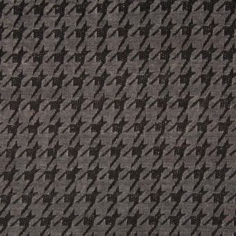 Tissu chenille pied de poule gris