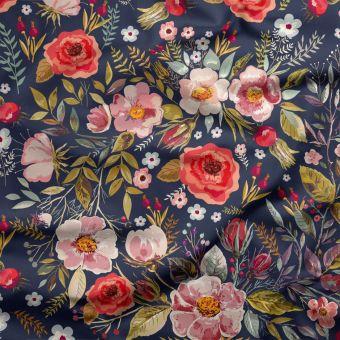 Tissu jersey lourd recyclé pour maillot de bain Floral - La Panda Love Fabrics