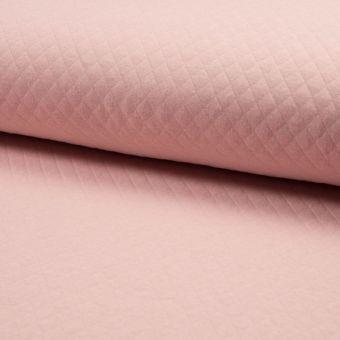 Tissu jersey matelassé rose pâle