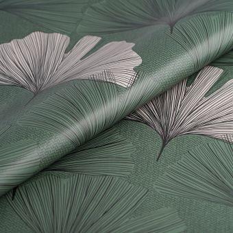Toile cirée verte feuille