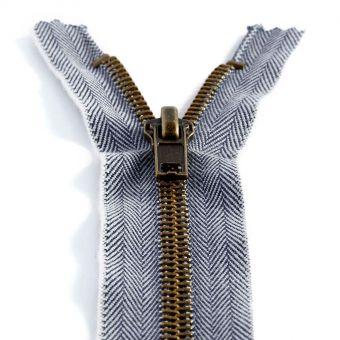 Fermeture jeans non séparable 8 cm