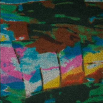 Tissu lainage caban turquoise