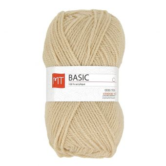 Pelote de fil à tricoter mt basic beige