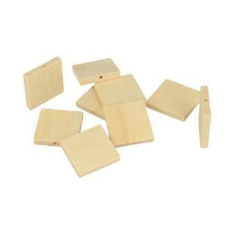 """Perle bois """"Lucy"""" carrées 30x4,7mm 12 pièces"""