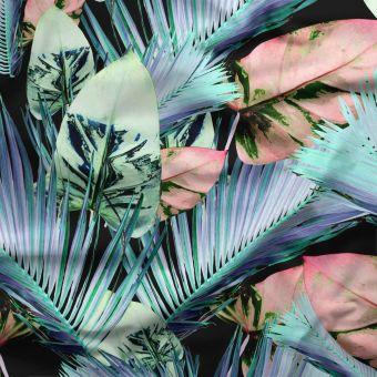 Tissu jersey lourd recyclé pour maillot de bain Tropical pastel - La Panda Love Fabrics