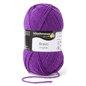 Fil à tricoter Bravo violet