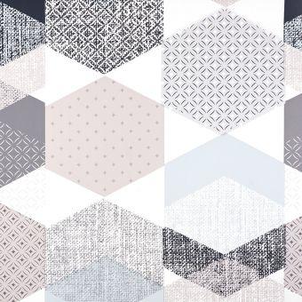 Protège table polygone bleu