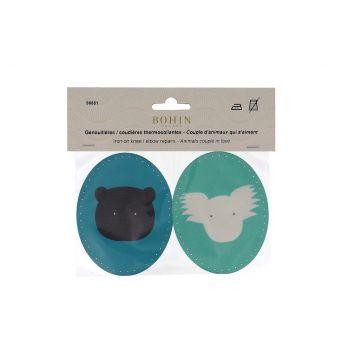 Genouillères ourson/koala thermocollant - Bohin