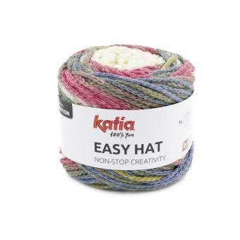 Pelote de fil à tricoter Easy hat Katia corail vert ocre