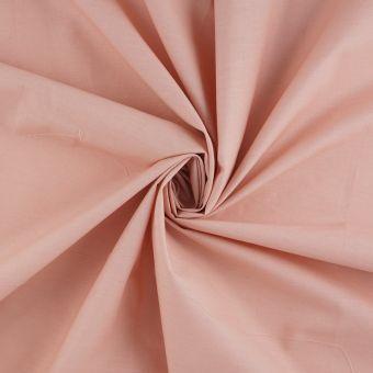 Tissu popeline coton bio rose
