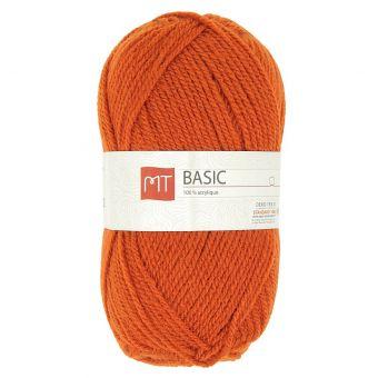 Pelote de fil à tricoter mt basic rouille