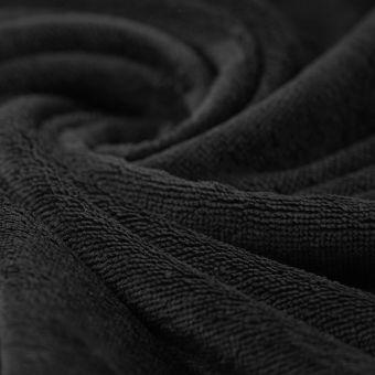 Tissu éponge bambou doudou noir