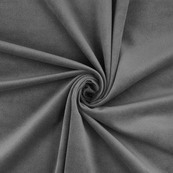 Tissu velours Decker gris