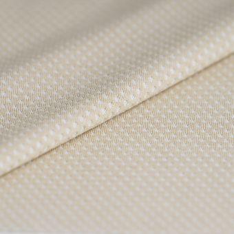 Tissu polyester sport respirant beige