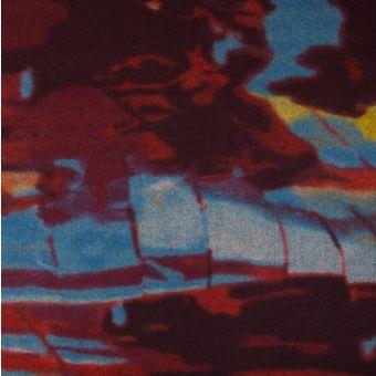 Tissu lainage caban orange