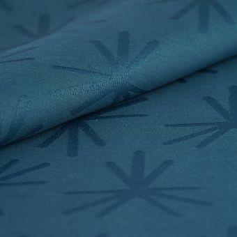 Tissu damassé Spot bleu canard déperlant