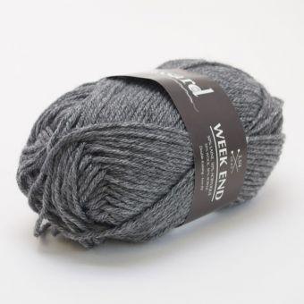 Pelote de fil à tricoter week-end anthracite - Plassard