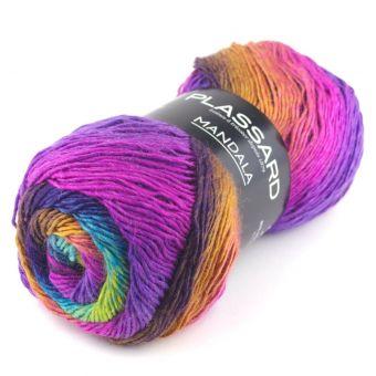Pelote de fil à tricoter mandala n°01