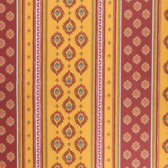 Tissu provençale cretonne enduite sormiou rayé jaune