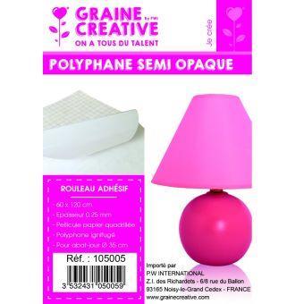 Mini rouleau polyphane adhésif 60x120cm semi opaque