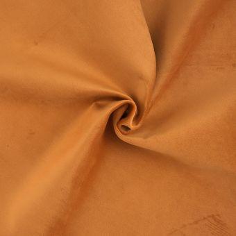 Tissu velours uni orange